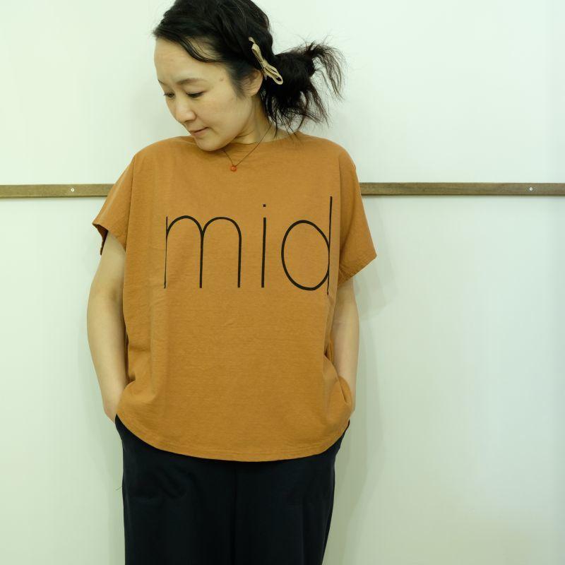 tumugu ラフィ天竺のプリントTシャツ