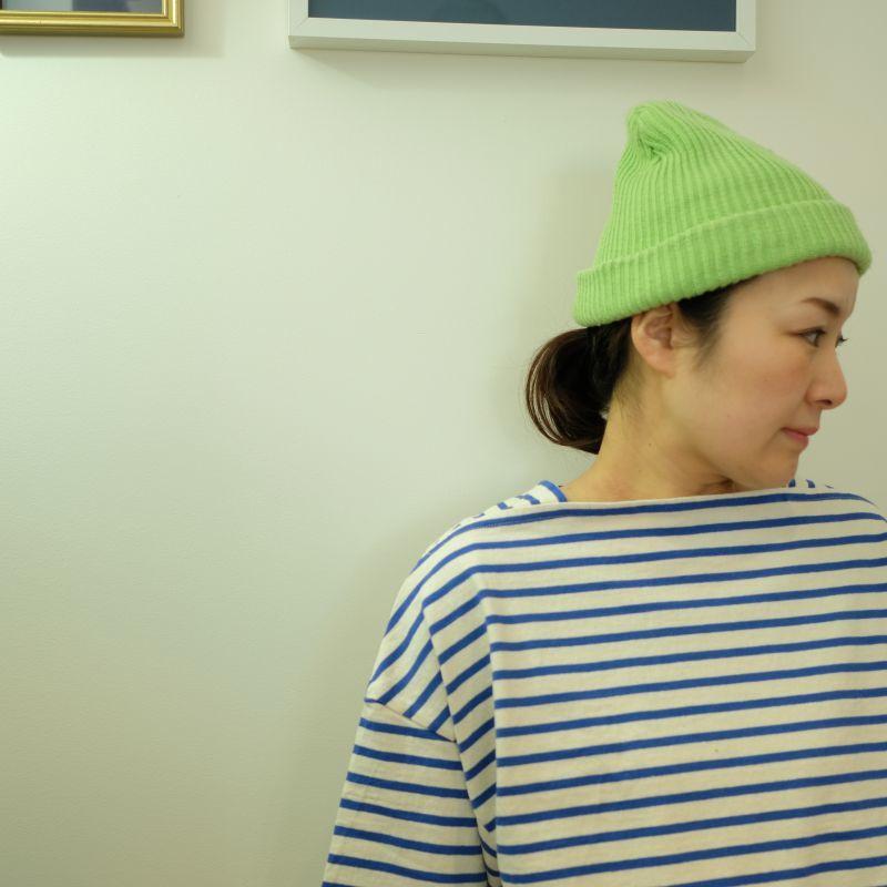 tumugu ヴィンテージボーダーのボートネックTシャツ